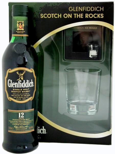 Glenfiddich Scotch on the Rocks mit Eiswürfelhalter