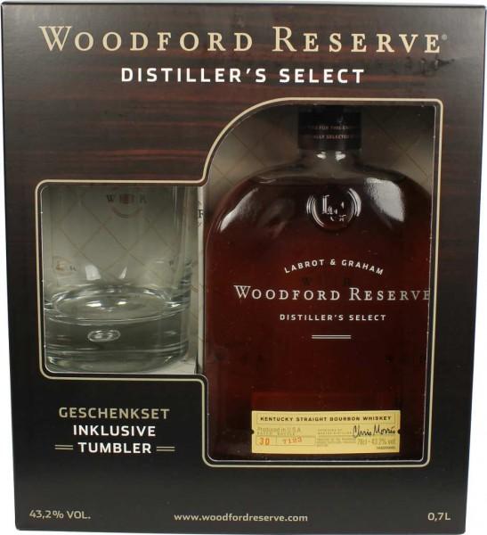 Woodford Reserve 0,7 l in Geschenkpackung mit Glas