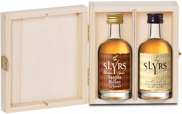 Slyrs Whisky Doppelpack 2x0,05l in Holzkiste