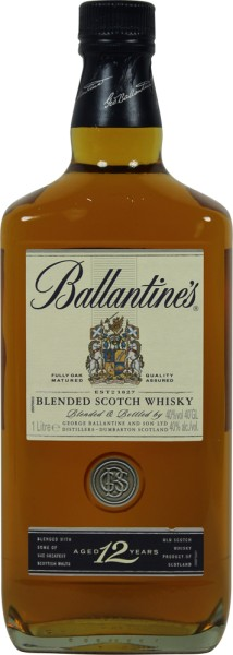 Ballantines 12yrs. 1 Liter