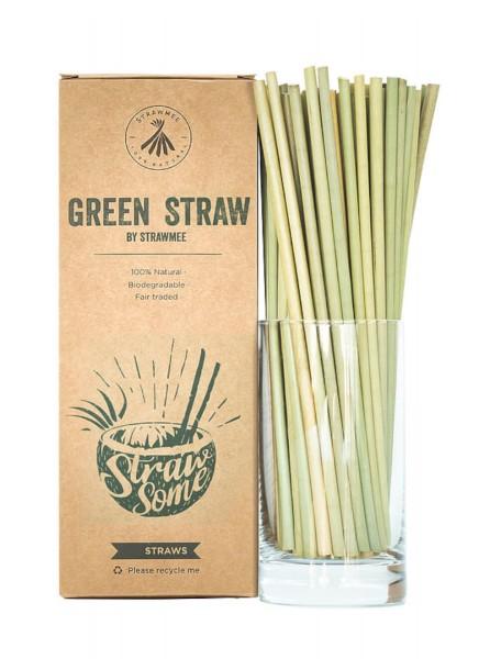 Trinkhalme Green Straw aus Pflanzenfasern 20cm 50Stk