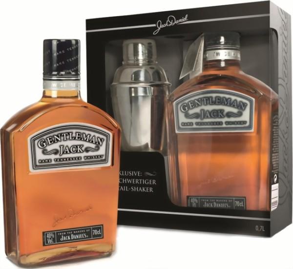 Gentleman Jack 0,7 Liter in Geschenkpackung mit Whiskytumbler und Untersetzer