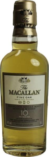 The Macallan Whisky Fine Oak 10 Jahre Miniatur 5cl