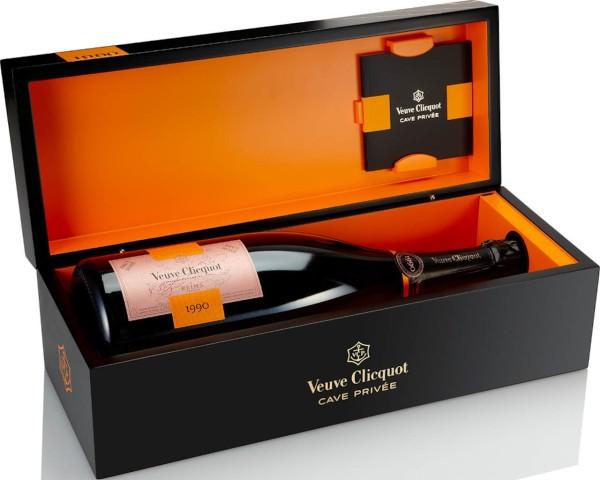 Veuve Clicquot Cave Privée Rosé 1990 in der Holzbox 1,5l