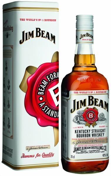 Jim Beam White Label 0,7 Liter in Metalldose