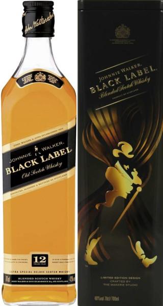 Johnnie Walker Black Label in Tinbox 0,7 l