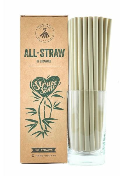 Trinkhalme All Straw aus Bambusfasern 21cm 50Stk