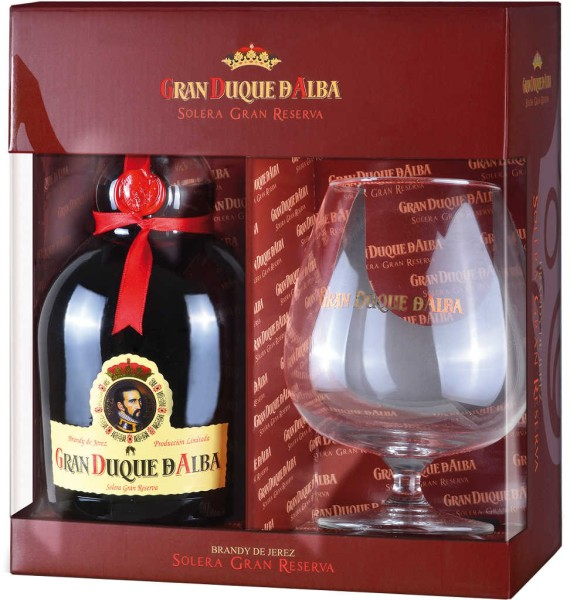 Gran Duque d'Alba Brandy 0,7 l mit Glas