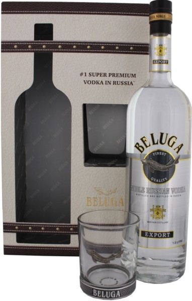 Beluga Noble Vodka 1l mit Glas