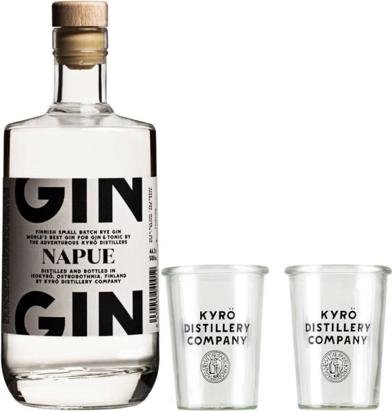 Kyrö Napue Rye Gin 0,5l mit 2 Gläsern