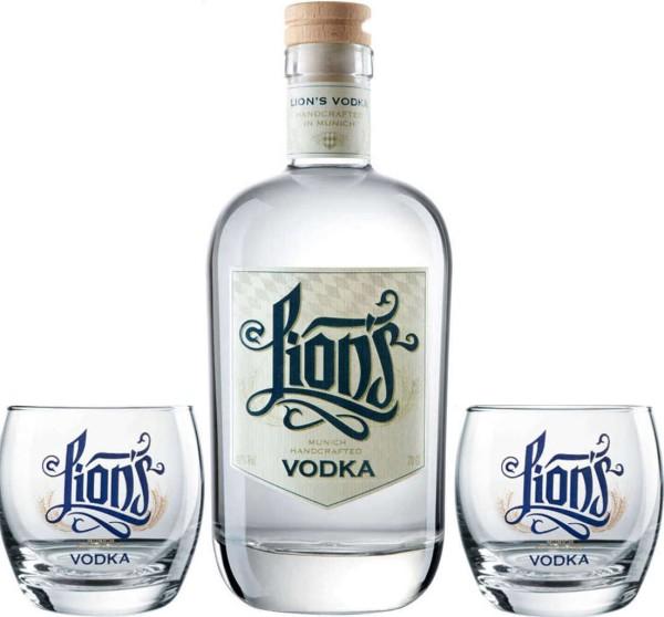 Lions Vodka 0,7l - Gläser Set