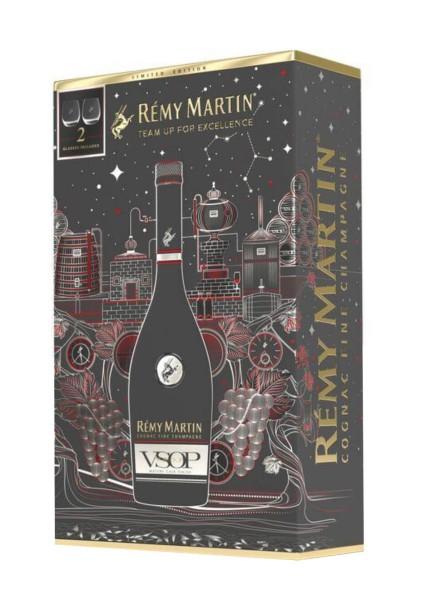 Remy Martin VSOP in Geschenkpackung mit 2 Tumblern