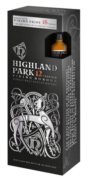 Highland Park Whisky 12 Jahre 0,7l mit Highland Park Mini 18 Jahre