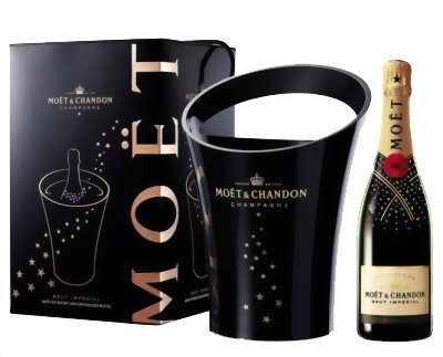 Moet & Chandon Champagner Brut Imperial Swarovski Edition mit Kühler 0,75 l