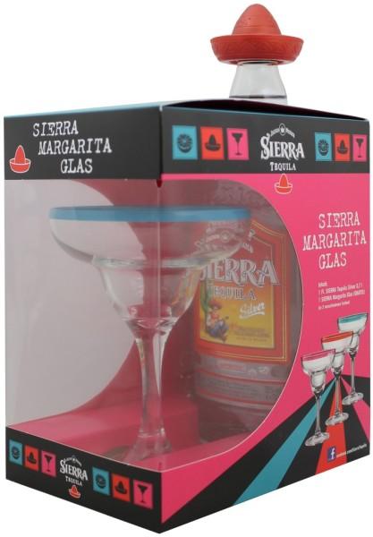 Sierra Tequila Silver mit Sierra Margarita Glas