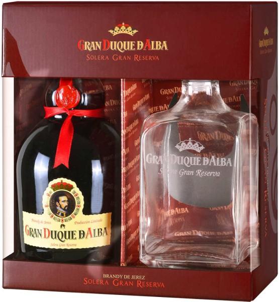 Gran Duque d'Alba Brandy 0,7 Liter mit Dekanter