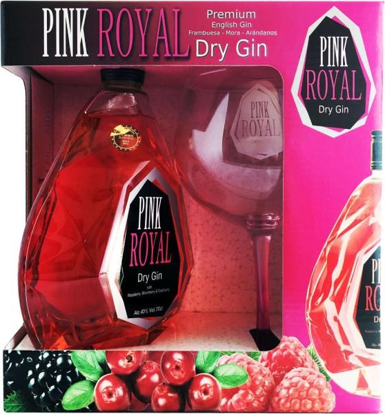 Pink Royal Dry Gin 0,7l mit Glas