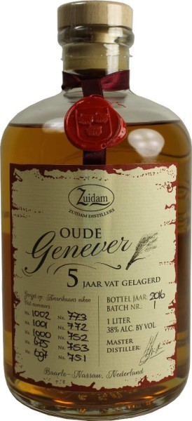 Zuidam Oude Genever 5 Jahre 1l