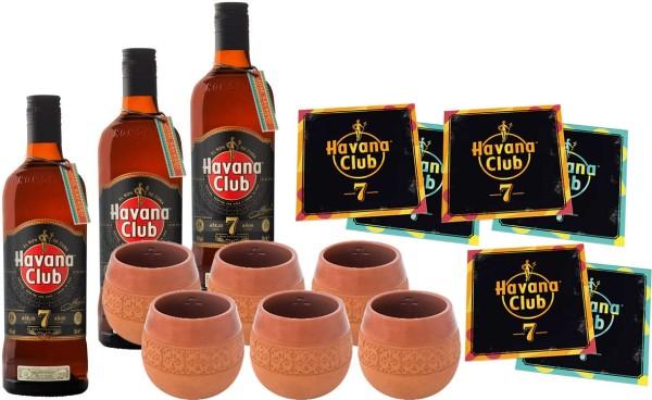 Havana Club 7 Jahre Tonkrug Set