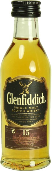 Glenfiddich Whisky 15 Jahre Mini 5cl