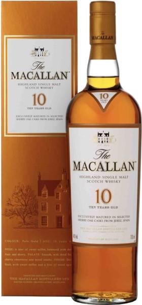 The Macallan Speyside Single Malt Whisky 10 yrs Sherrywood