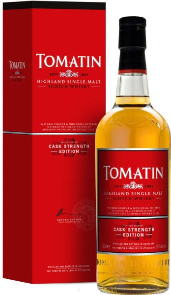 Tomatin Whisky Cask Strength 0,7l