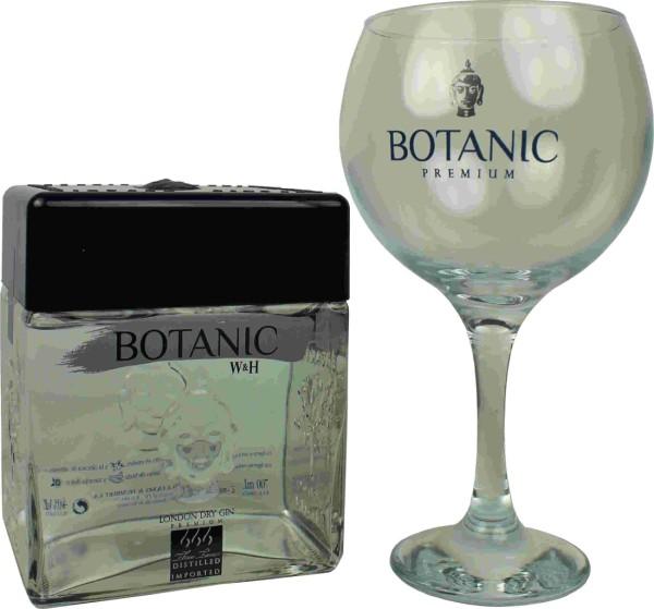 Botanic Gin Premium 0,7l mit Glas