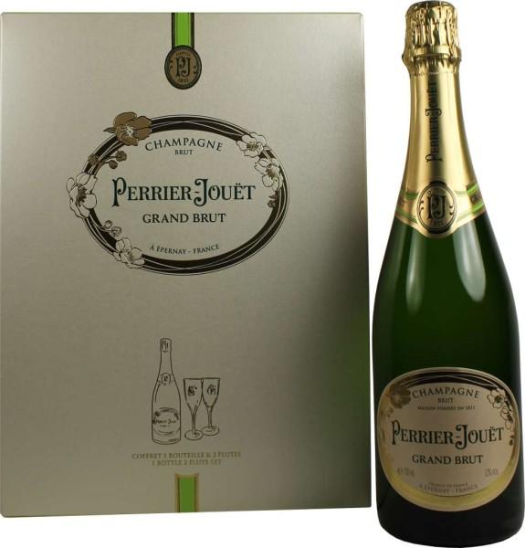 Perrier Jouet Grand Brut Geschenkpackung mit 2 Champagnergläsern