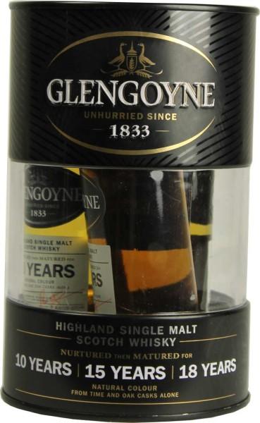 Glengoyne Whisky Malt Tin Box Minis 10/15/18 Jahre