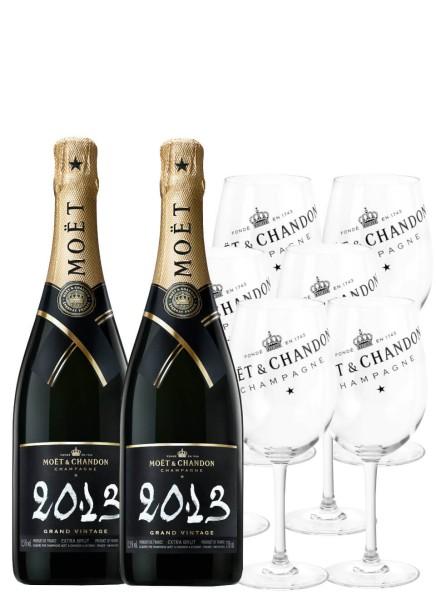 Moet & Chandon Champagner Grand Vintage Gläser Set