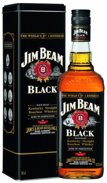 Jim Beam Whiskey Black Label 0,7l in Metalldose