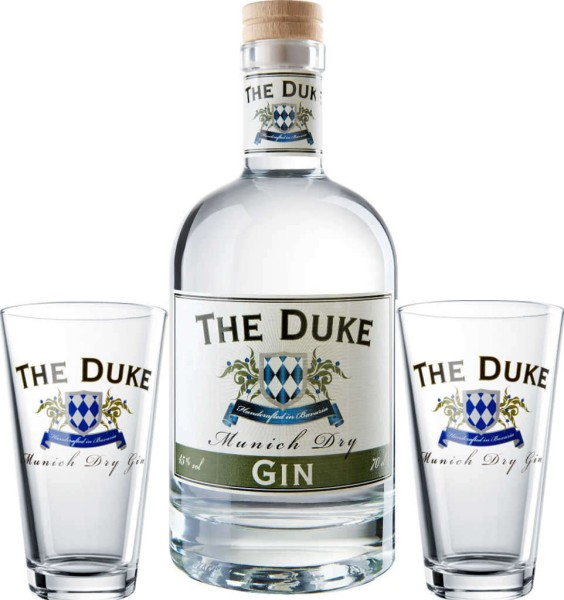 The Duke Munich Dry Gin 0,7l mit Gläsern