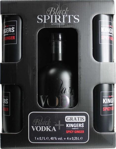 Gansloser Vodka & Kingers Spicy Ginger Set