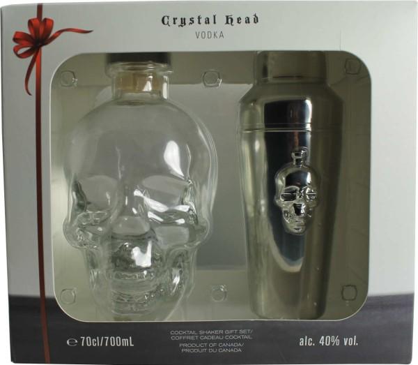 Crystal Head Vodka 0,7l mit Cocktail Shaker