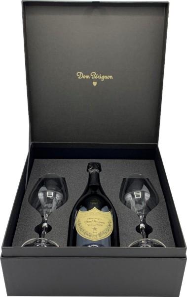 Dom Perignon Vintage in Geschenkpackung mit 2 Gläsern
