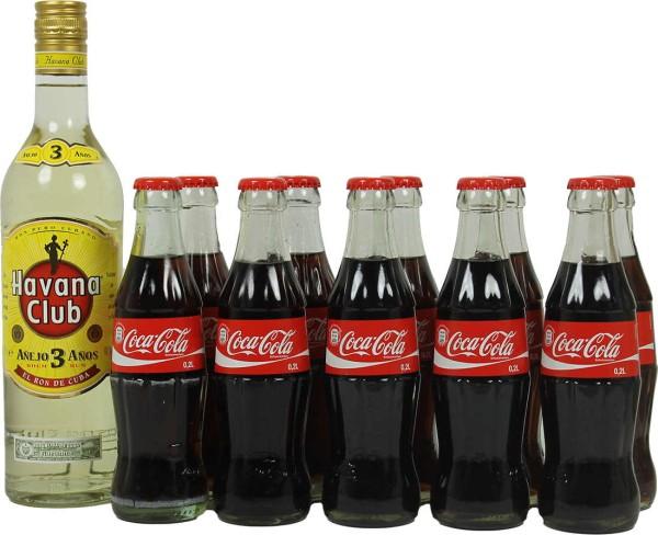 Havana Club Rum 3 Jahre mit Cola