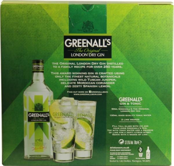 Greenalls London Dry Gin 0,7l mit 2 Gläsern