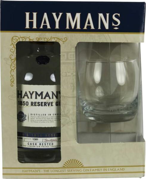Haymans 1850 Reserve Gin 0,7l in Geschenkpackung mit Glas
