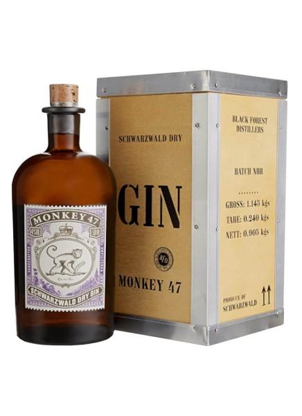 Monkey 47 Gin 0,5l in Holzkiste