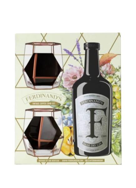 Ferdinands Saar Dry Gin Copper Comb Set 0,5 Liter