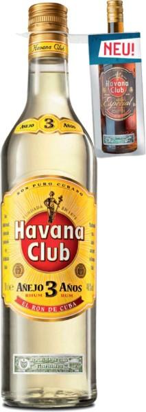 Havana Club 3 Jahre mit Havana Anejo Especial Miniatur