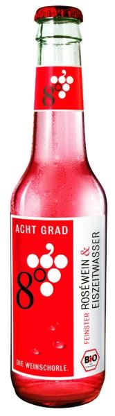 Weinschorle 8 Grad rosé 0,275 liter