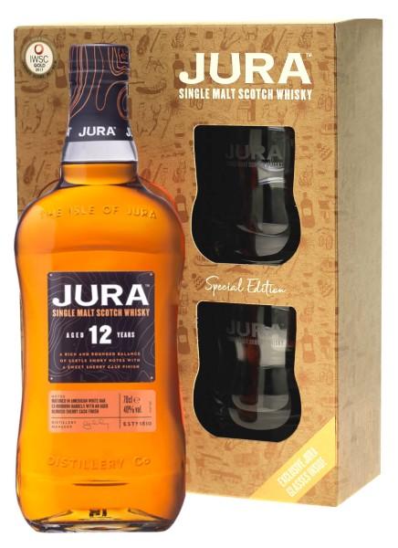 Isle of Jura Whisky 10 Jahre 0,7l mit Tumbler