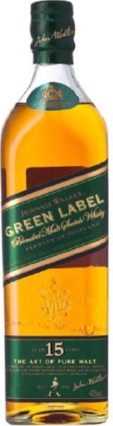 Johnnie Walker Whisky Green Label 15 Jahre 1 Liter