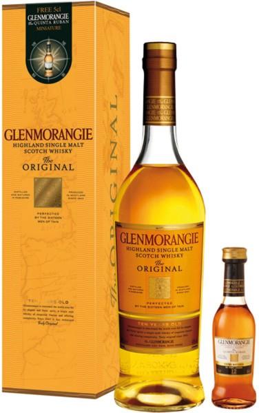 "Glenmorangie Original mit ""The Quinta Ruban"" Miniatur"