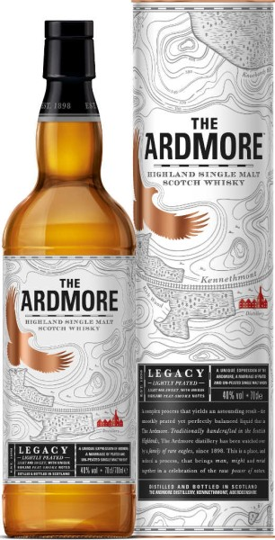 Ardmore Whisky Legacy 0,7l mit 4 Whisky Coolstones
