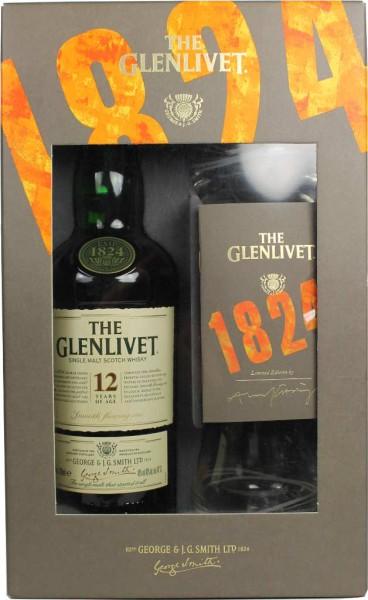 The Glenlivet Whisky 12 Jahre 0,7l mit 2 Gläsern