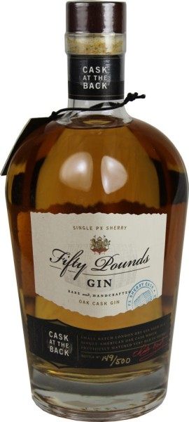 Fifty Pounds Gin Cask at the Back 0,7l