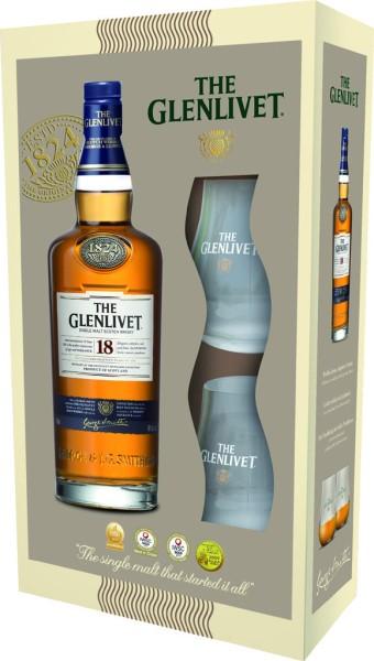 The Glenlivet 18 yrs im Geschenkset