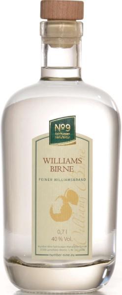 Number Nine Obstbrand Williamsbirne 0,7l